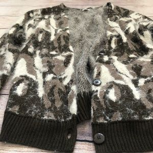bp Sweaters - BP Cheetah Leopard Fuzzy Cardigan Sweater Small